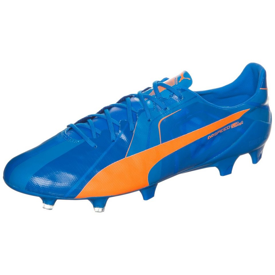 PUMA evoSPEED SL Head To Head FG Fußballschuh Herren in blau / orange