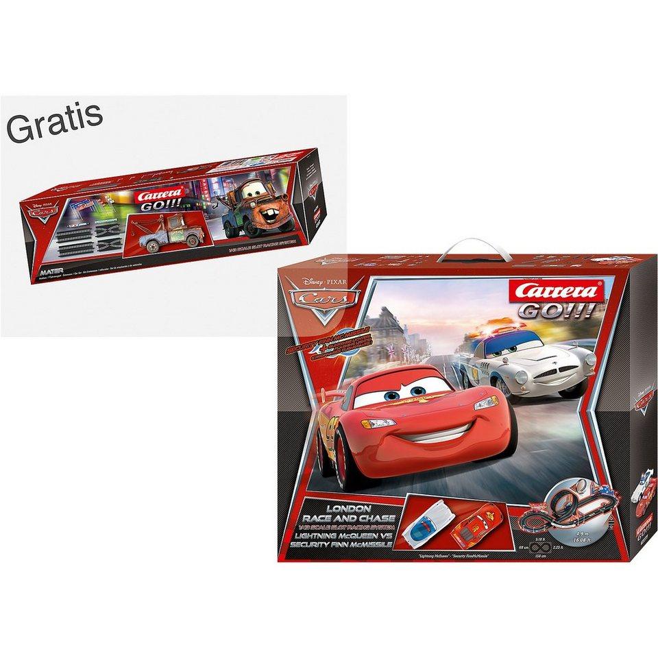 Carrera GO!!! 62277 Disney Cars London Race an Chase + GRATIS Ausbau