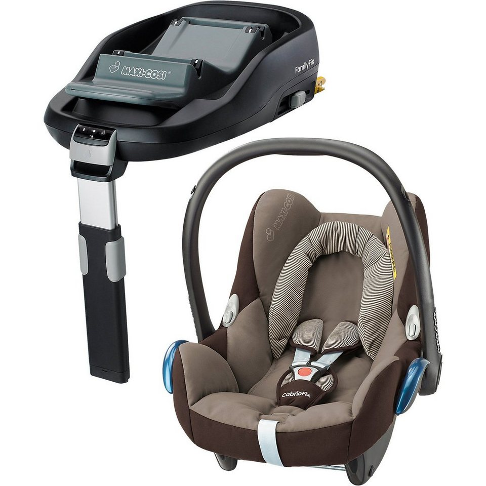 Maxi-Cosi Babyschale Cabriofix, earth brown, inkl. FamilyFix in braun