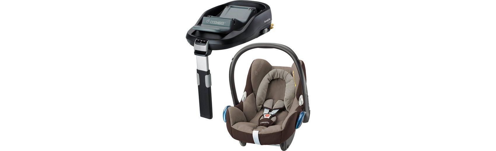 Maxi-Cosi Babyschale Cabriofix, earth brown, inkl. FamilyFix