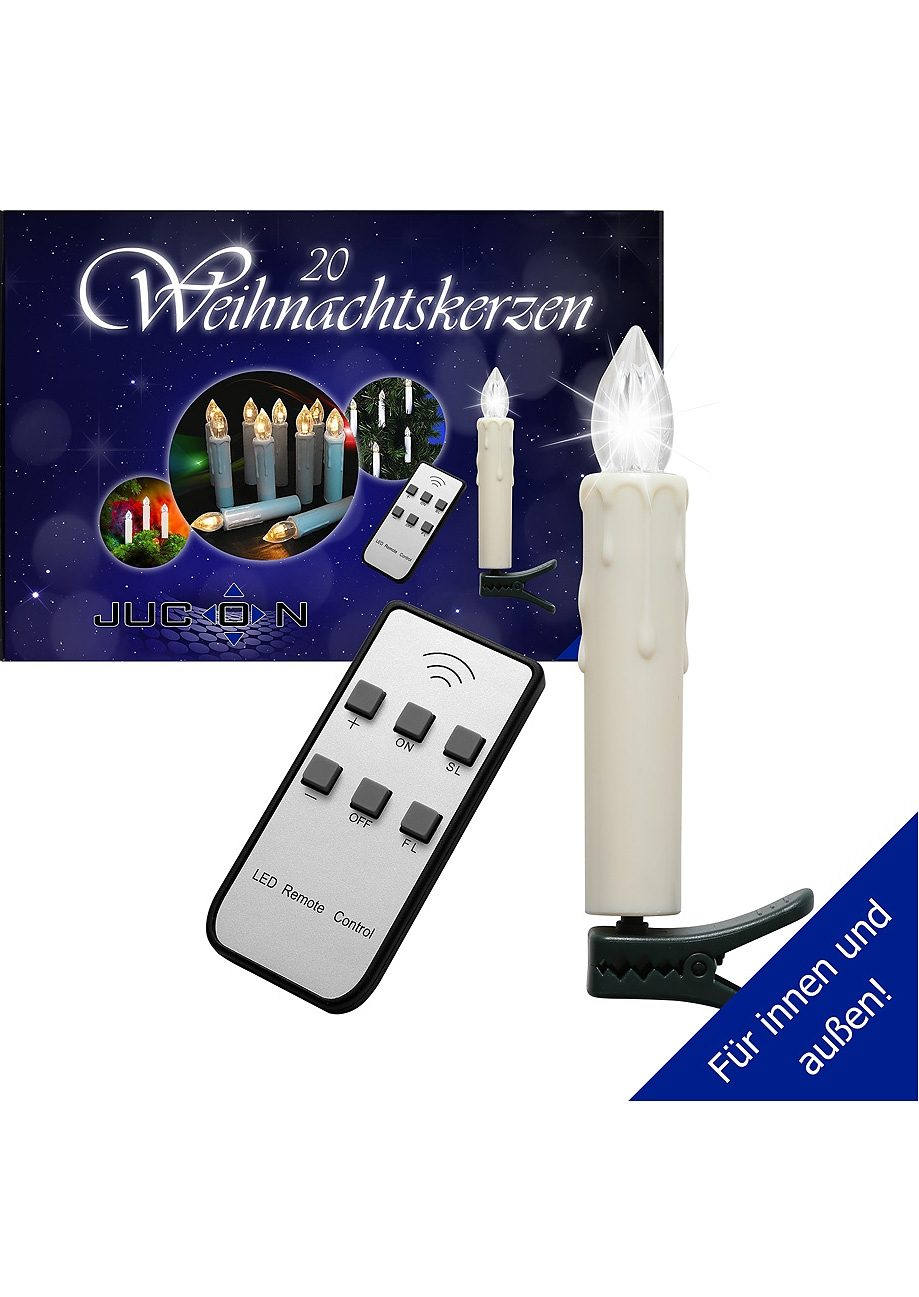 Set: LED-Christbaumkerzen (20er Set)