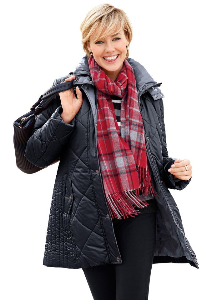 Wega Fashion Jacke im attraktiven Steppmuster in schwarz-grau