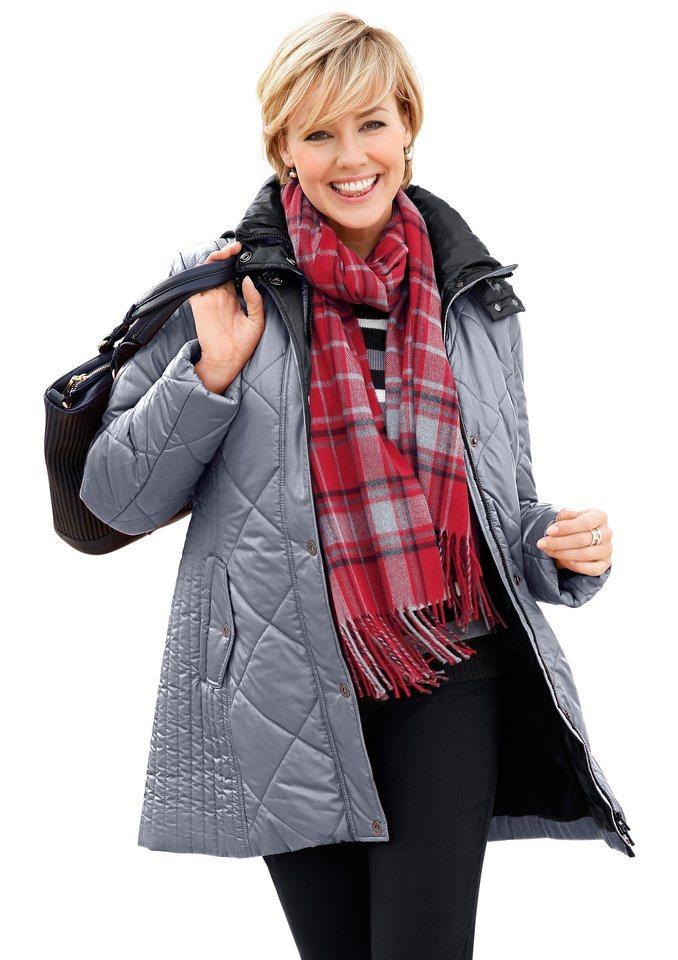 Wega Fashion Jacke im attraktiven Steppmuster in grau-schwarz