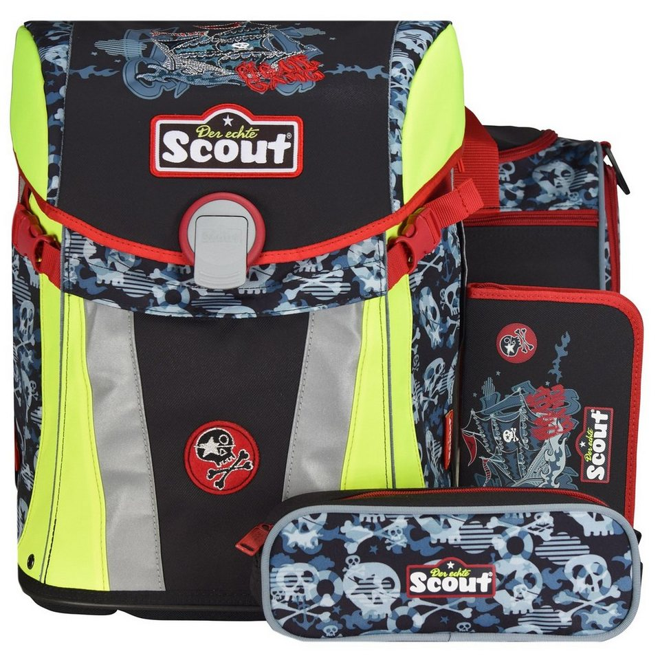 Scout Limited Edition Sunny Schulranzen-Set 4-tlg. in Pirate Gang