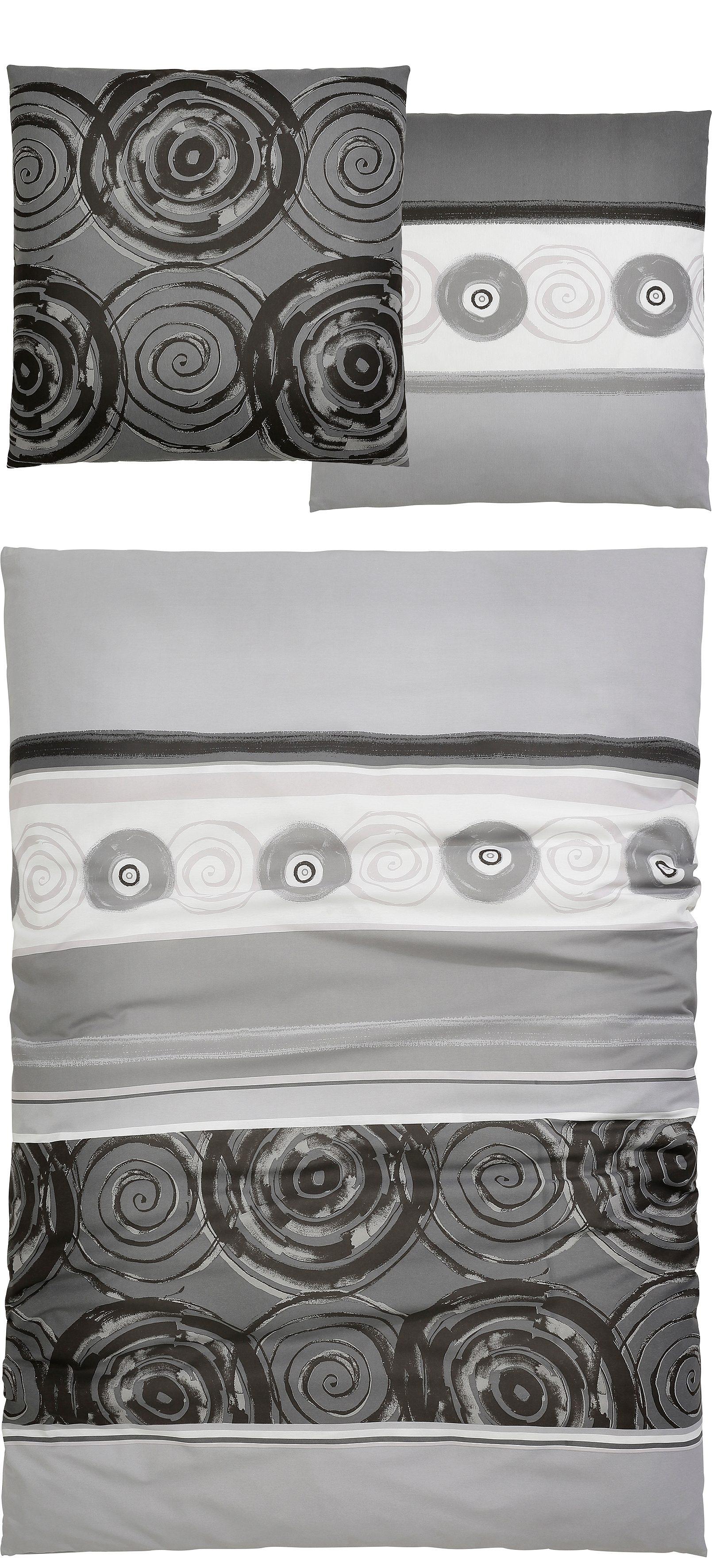 Bettwäsche, Auro Hometextiles, »Tyler«, mit kreisförmigen Ornamenten