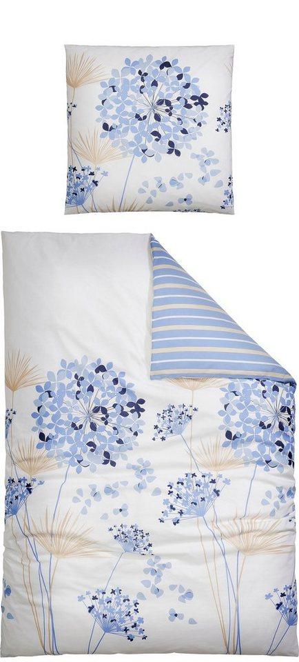 Bettwäsche, Ecorepublic Home, »Shirla«, mit ansprechenden Pusteblumen in blau