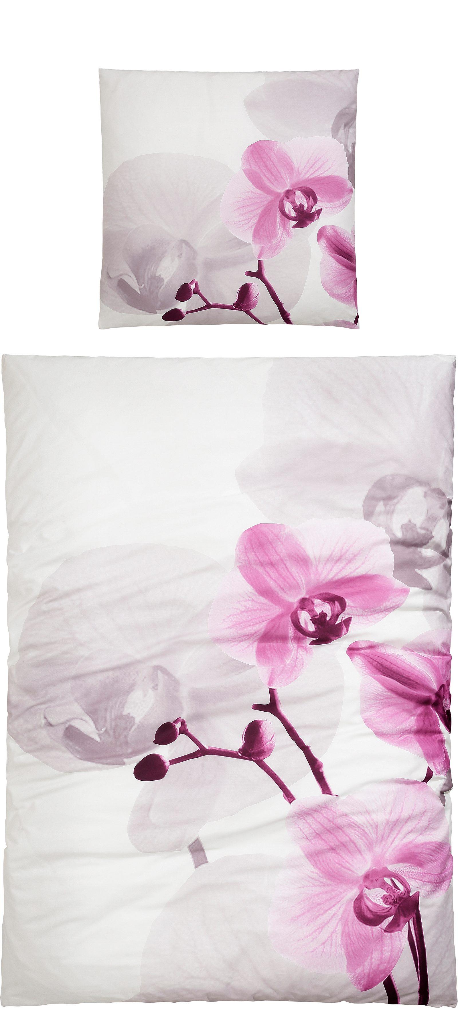 Bettwäsche, Sister S, »Orchidee«, mit großer Blume
