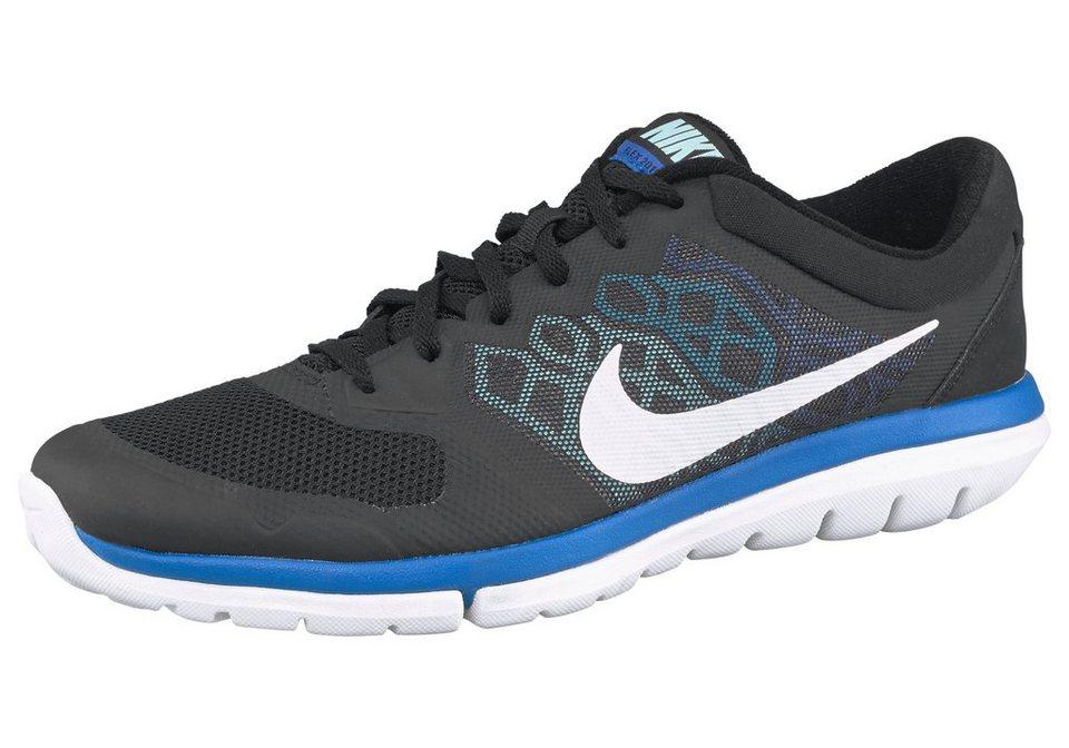 Nike Flex 2015 RN M Laufschuh in Schwarz-Weiß-Blau