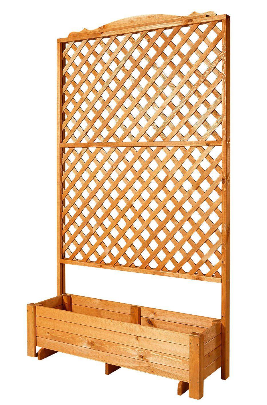 Holzspalier »Romantica mit Pflanzkasten, 120 cm«