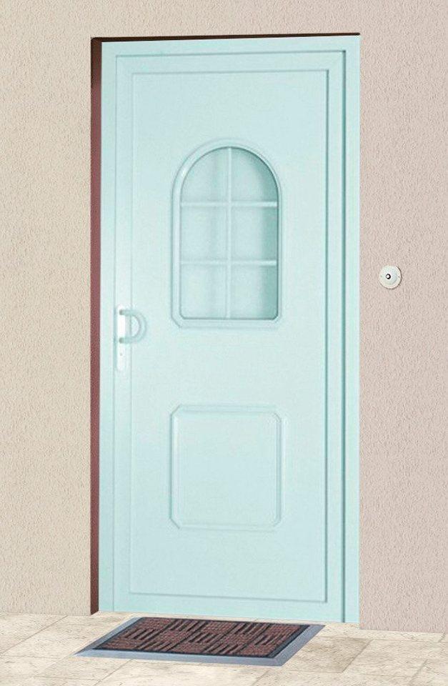 KM MEETH ZAUN GMBH Kunststoff-Haustür »HT«, BxH: 98x200 cm, weiß, in 2 Varianten in weiß