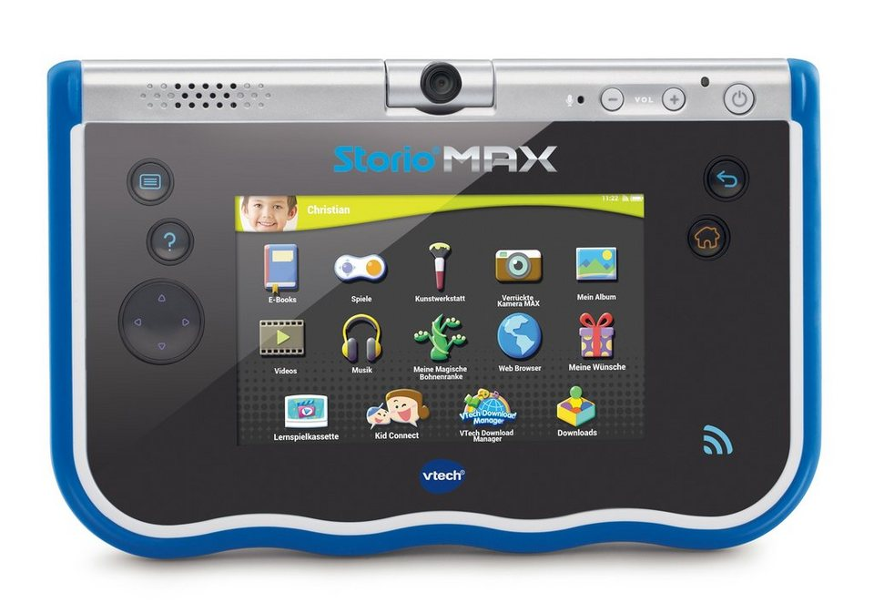 VTech Set: Lern-Tablet + Kopfhörer + Schutzfolie + Schutzhülle, »Storio® MAX 5-Zoll« in blau