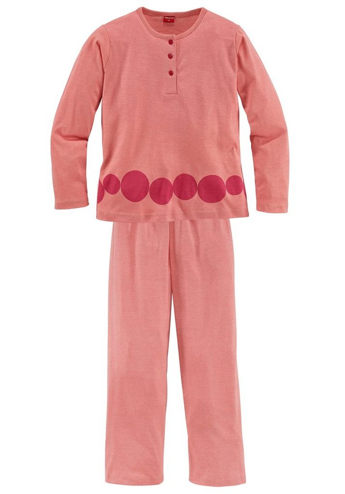Pyjama for girls in apricot meliert