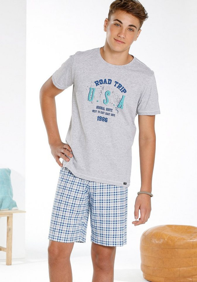 Skiny Shorty »Independent Sleep«, for boys in grau meliert