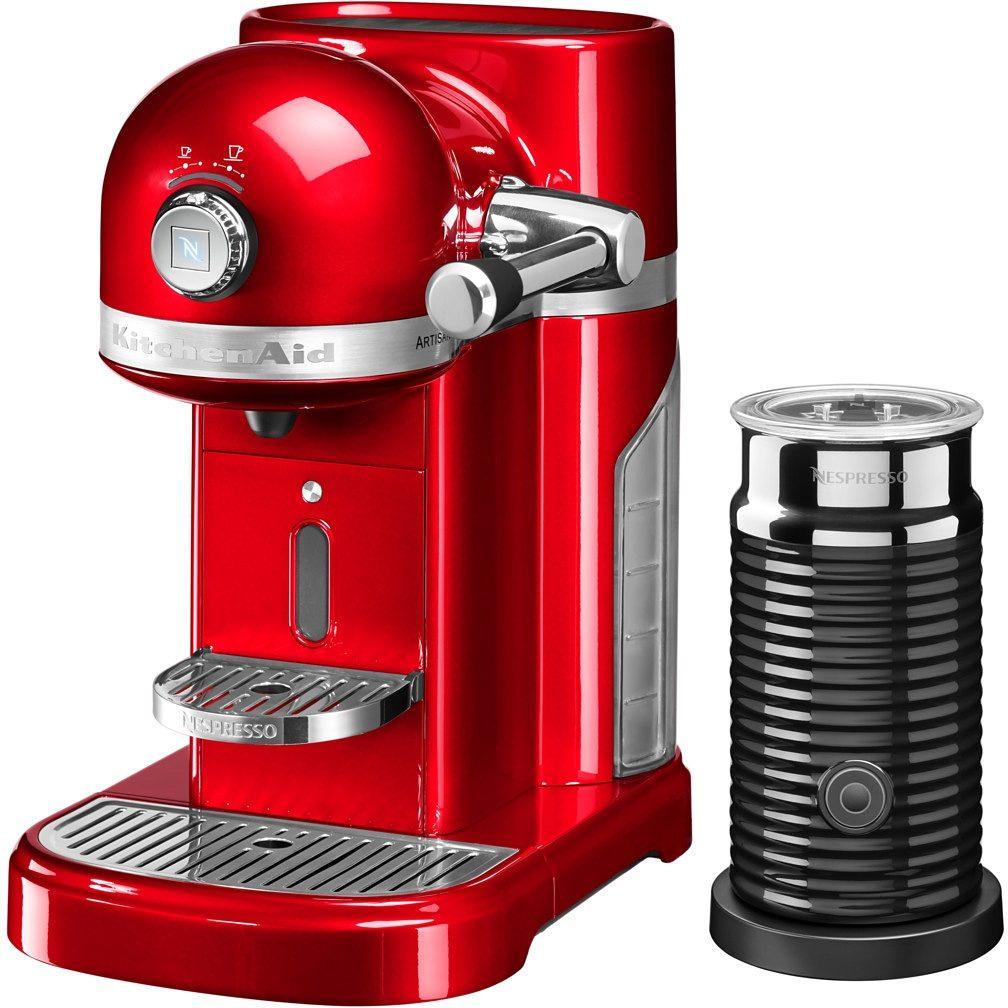 KitchenAid Artisan Nespresso mit Aeroccino 5KES0504EER, 19 Bar, empire rot