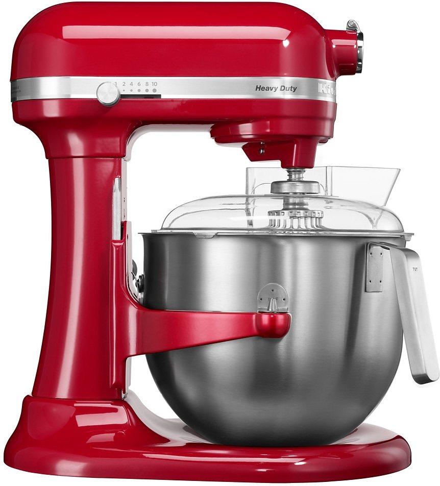 KitchenAid Küchenmaschine mit Schüsselheber HEAVY DUTY 5KSM7591XEER, 6,9 Liter, 500 Watt, empire r in empire rot