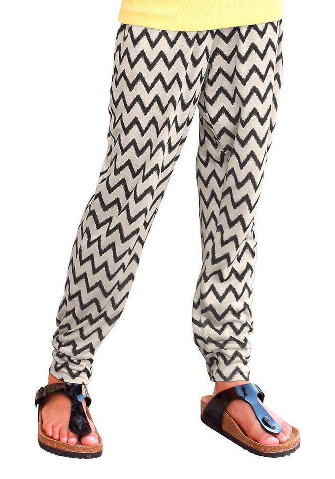 Arizona Haremshose mit tollem Zickzack-Muster in bedruckt
