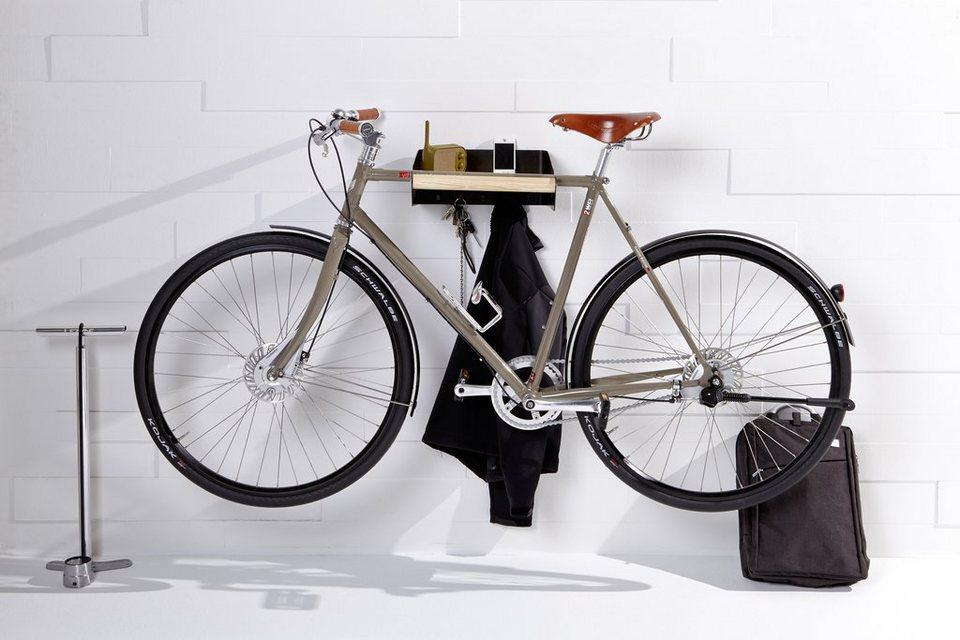 emform® Wandgarderobe »URBAN« weiß, auch als Fahrradhalterung in dunkelgrau