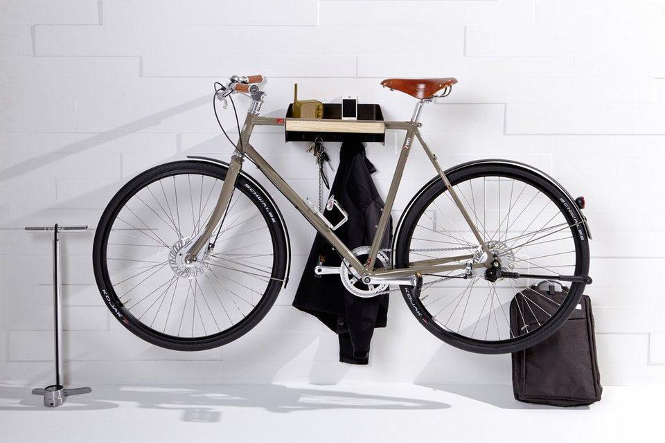 emform® Wandgarderobe »URBAN« silberfaben, auch als Fahrradhalterung in dunkelgrau
