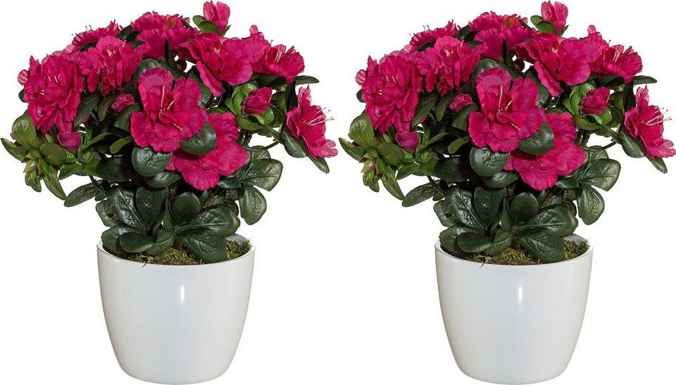 Home affaire Kunstblume »Azaleenbusch« (2er Set) in pink
