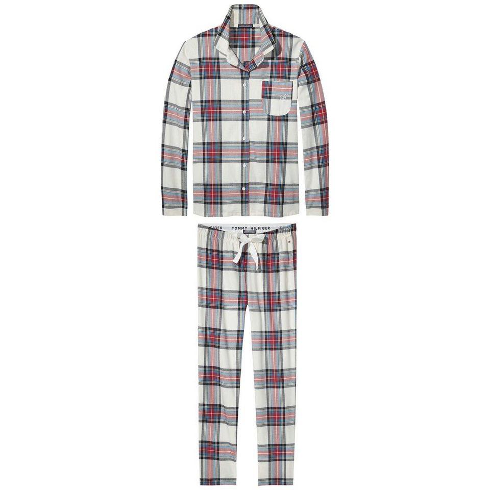 Tommy Hilfiger Schlafanzüge »Arah brushed flannel set« in EGRET / EGRET