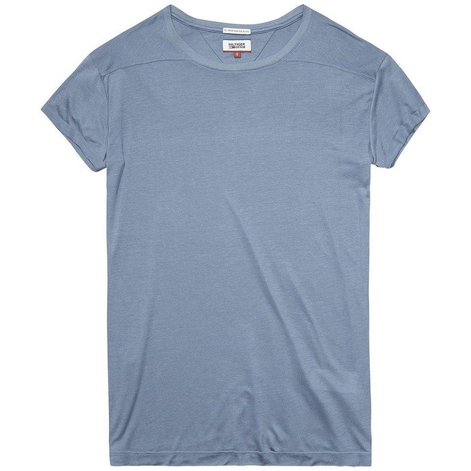 Hilfiger Denim T-Shirts (mit Arm) »Kimby cn knit s/s« in BLUE MIRAGE
