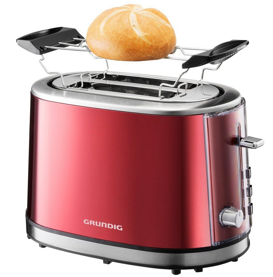 grundig toaster ta 6330 red sense f r 2 scheiben 850 watt metallic rot online kaufen otto. Black Bedroom Furniture Sets. Home Design Ideas