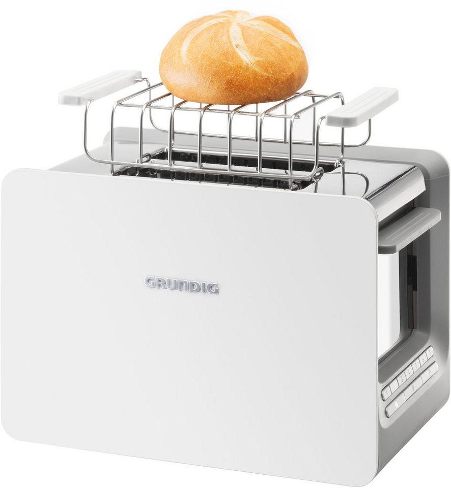 Grundig Toaster TA 7280 w »WHITE SENSE«, für 2 Scheiben, 870 Watt, Weiß-Edelstahl in weiß-edelstahl