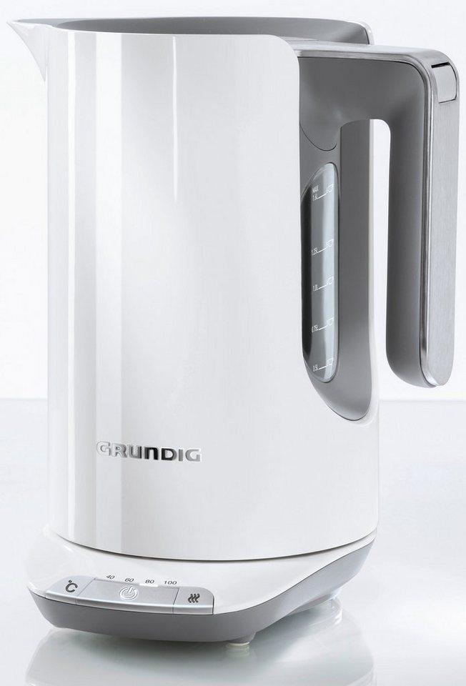 grundig wasserkocher wk 7280 w white sense 1 6 liter 2400 watt wei edelstahl online kaufen. Black Bedroom Furniture Sets. Home Design Ideas