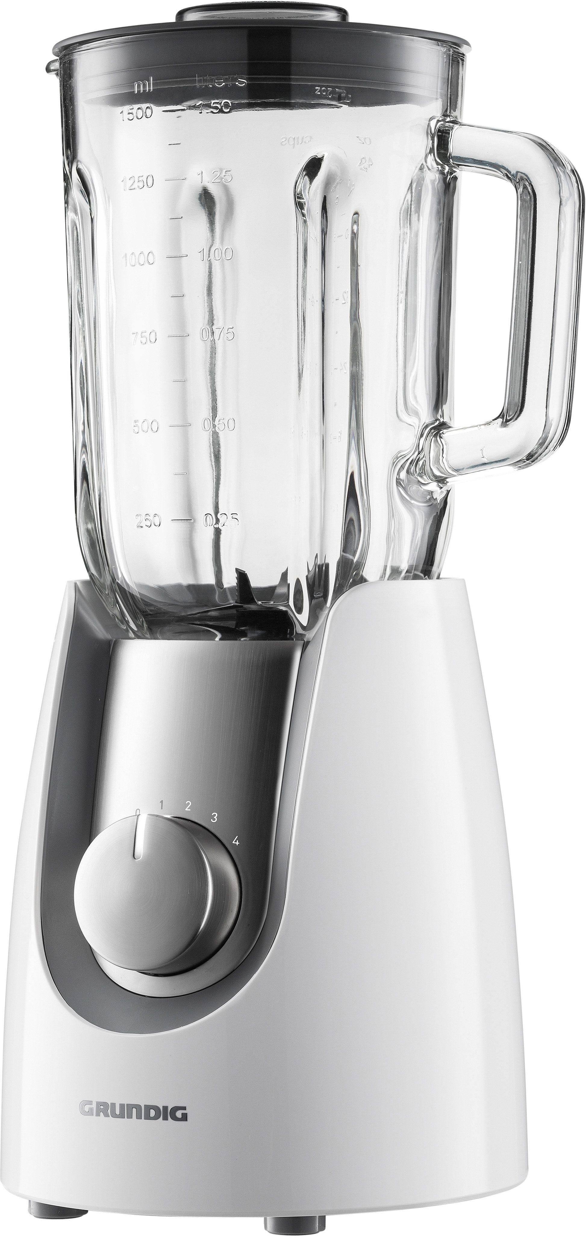 Grundig Premium Standmixer SM 7280 w »WHITE SENSE«, 600 Watt, 4 Stufen, Weiß-Edelstahl