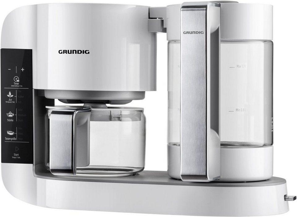 Grundig Gourmet Teebereiter TM 8280 w »WHITE SENSE«, 1,7 Liter, 1750 Watt, Weiß-Edelstahl in weiß-edelstahl