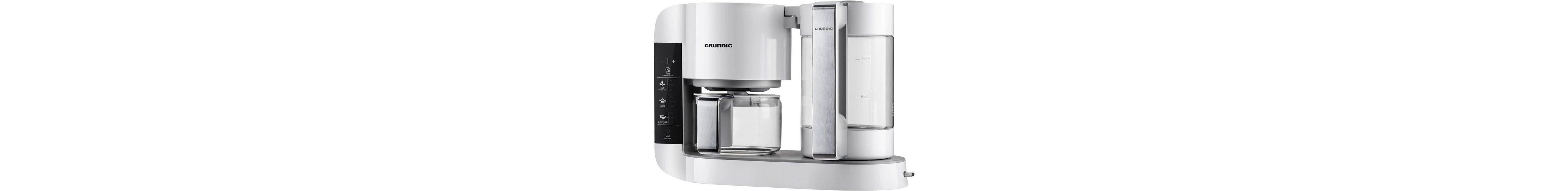 Grundig Gourmet Teebereiter TM 8280 w »WHITE SENSE«, 1,7 Liter, 1750 Watt, Weiß-Edelstahl