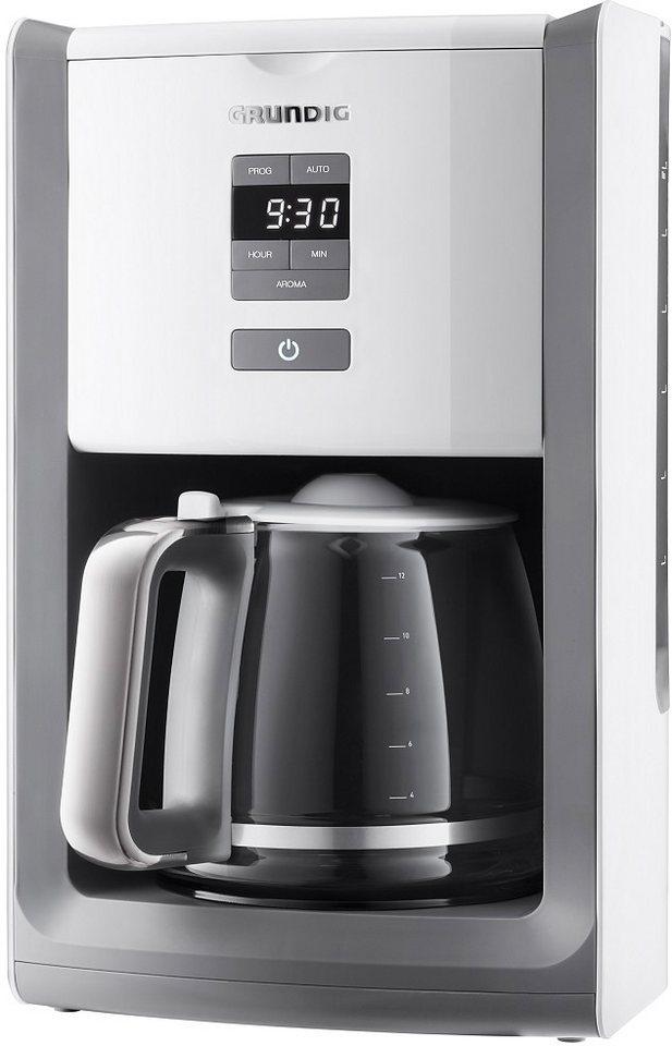 grundig programmierbare kaffeemaschine km 7280 w white sense wei edelstahl online kaufen otto. Black Bedroom Furniture Sets. Home Design Ideas