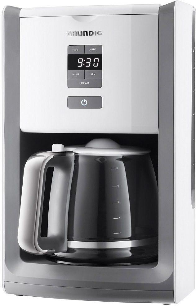 Grundig Cuisinery Filterkaffeemaschine KM 7280 w White Sense, 1,8l Kaffeekanne, Papierfilter 1x4