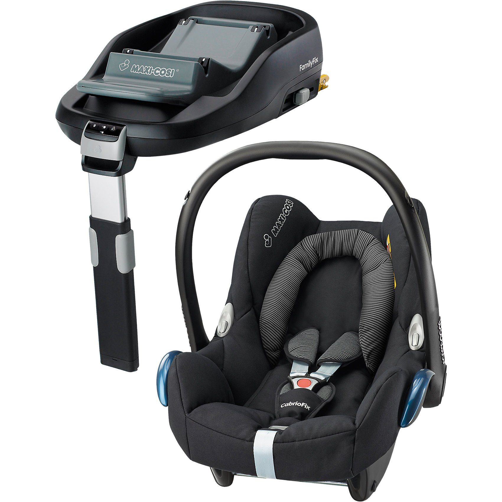 Maxi-Cosi Babyschale Cabriofix, black raven, inkl. FamilyFix