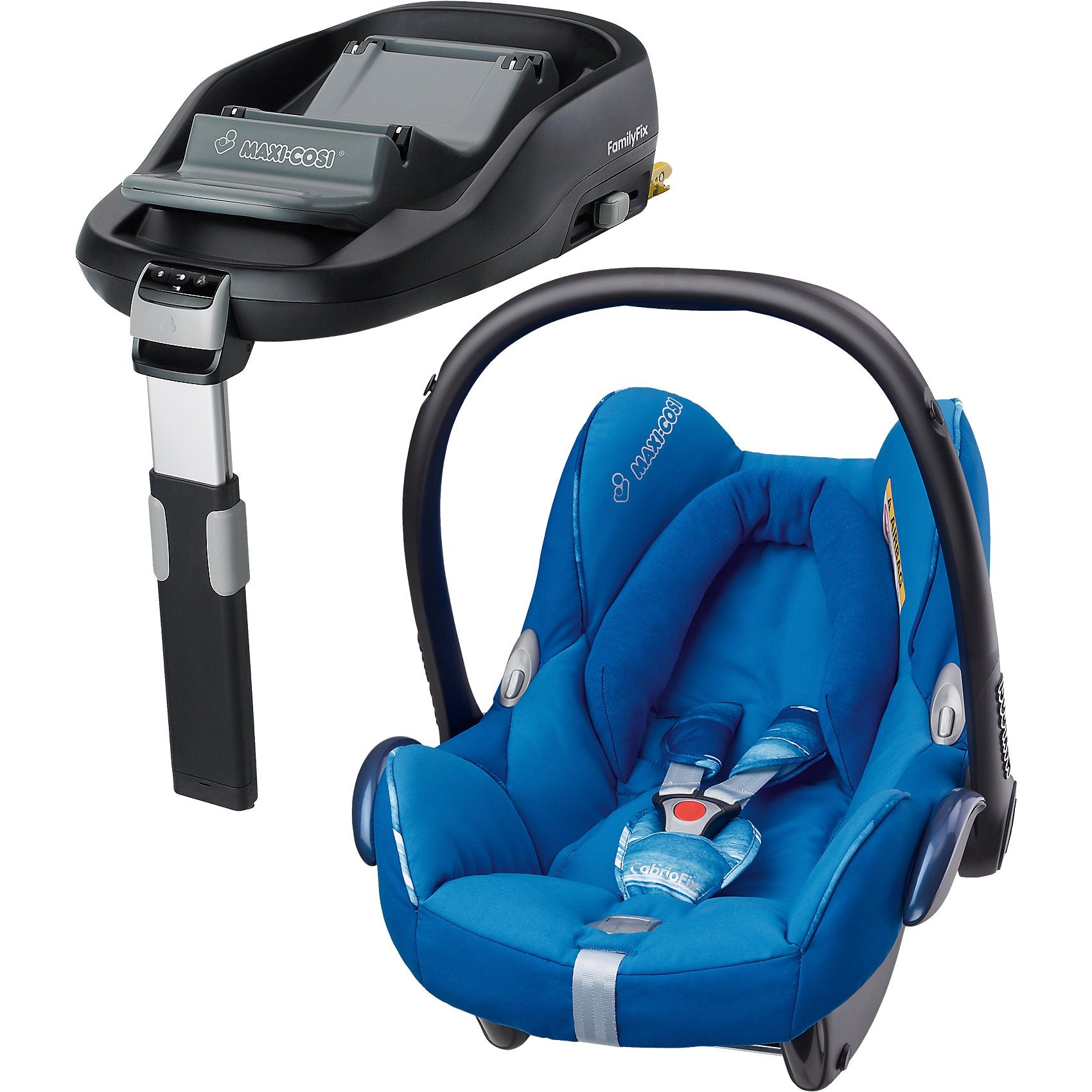 Maxi-Cosi Babyschale Cabriofix, watercolur blue, inkl. FamilyFix