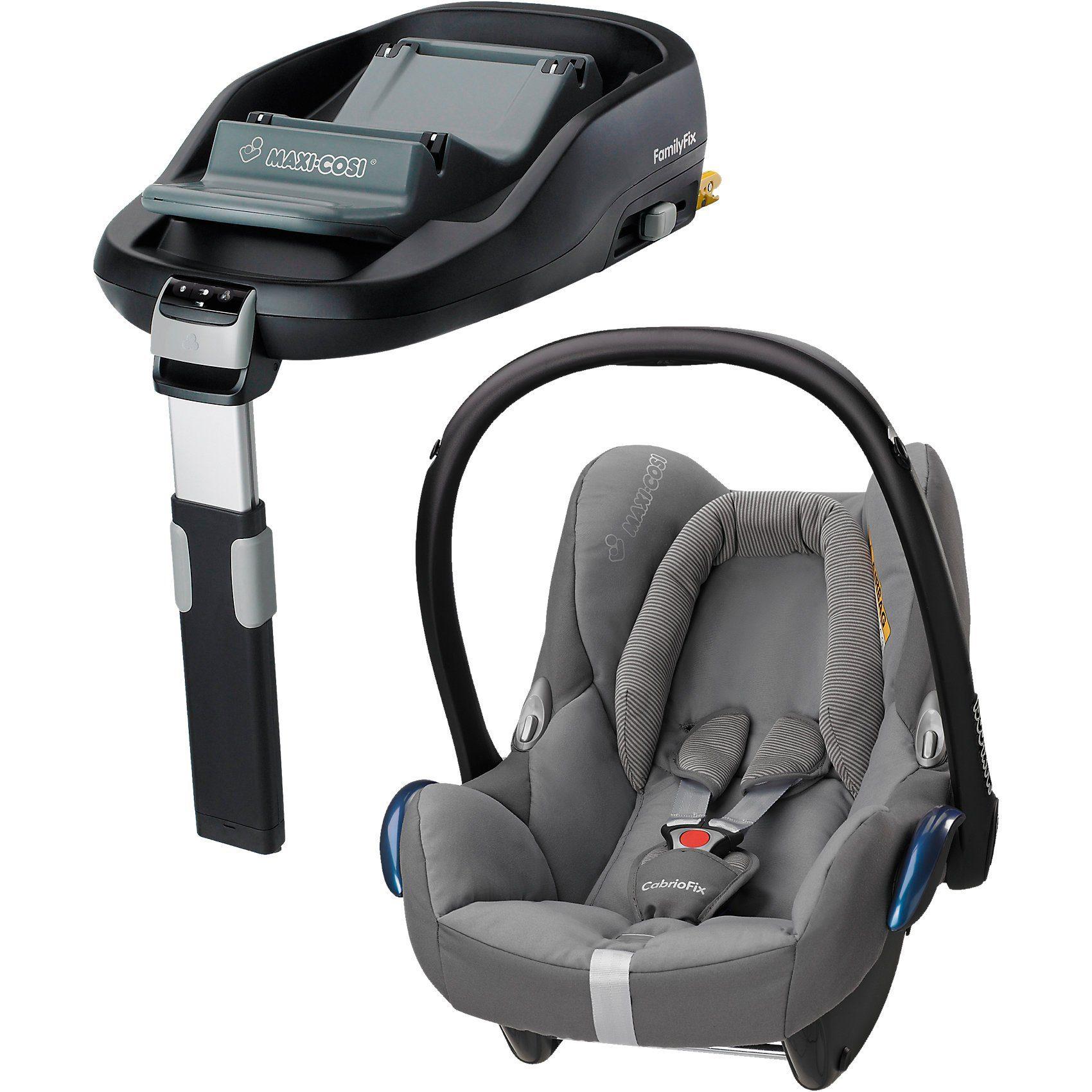 Maxi-Cosi Babyschale Cabriofix, concrete grey, inkl. FamilyFix
