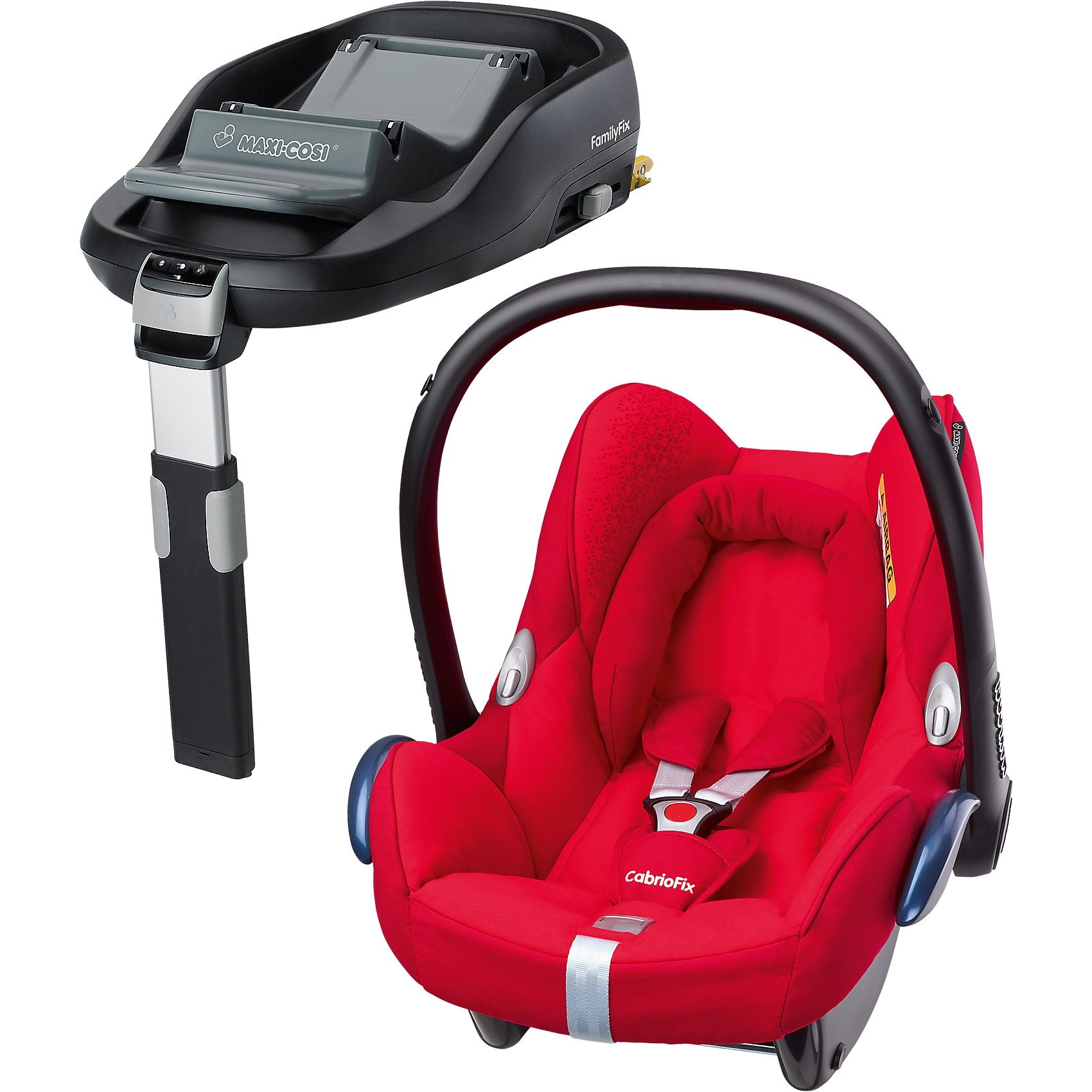Maxi-Cosi Babyschale Cabriofix, origami red, inkl. FamilyFix
