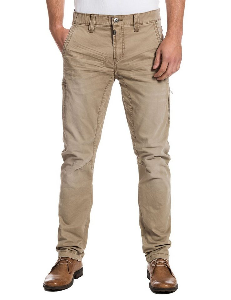 TIMEZONE Hosen lang »AxelTZ 3D traveller pants« in dune grey