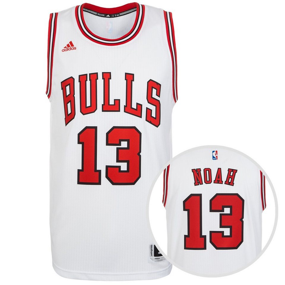 adidas Performance Chicago Bulls Noah Swingman Basketballtrikot Herren in weiß / rot
