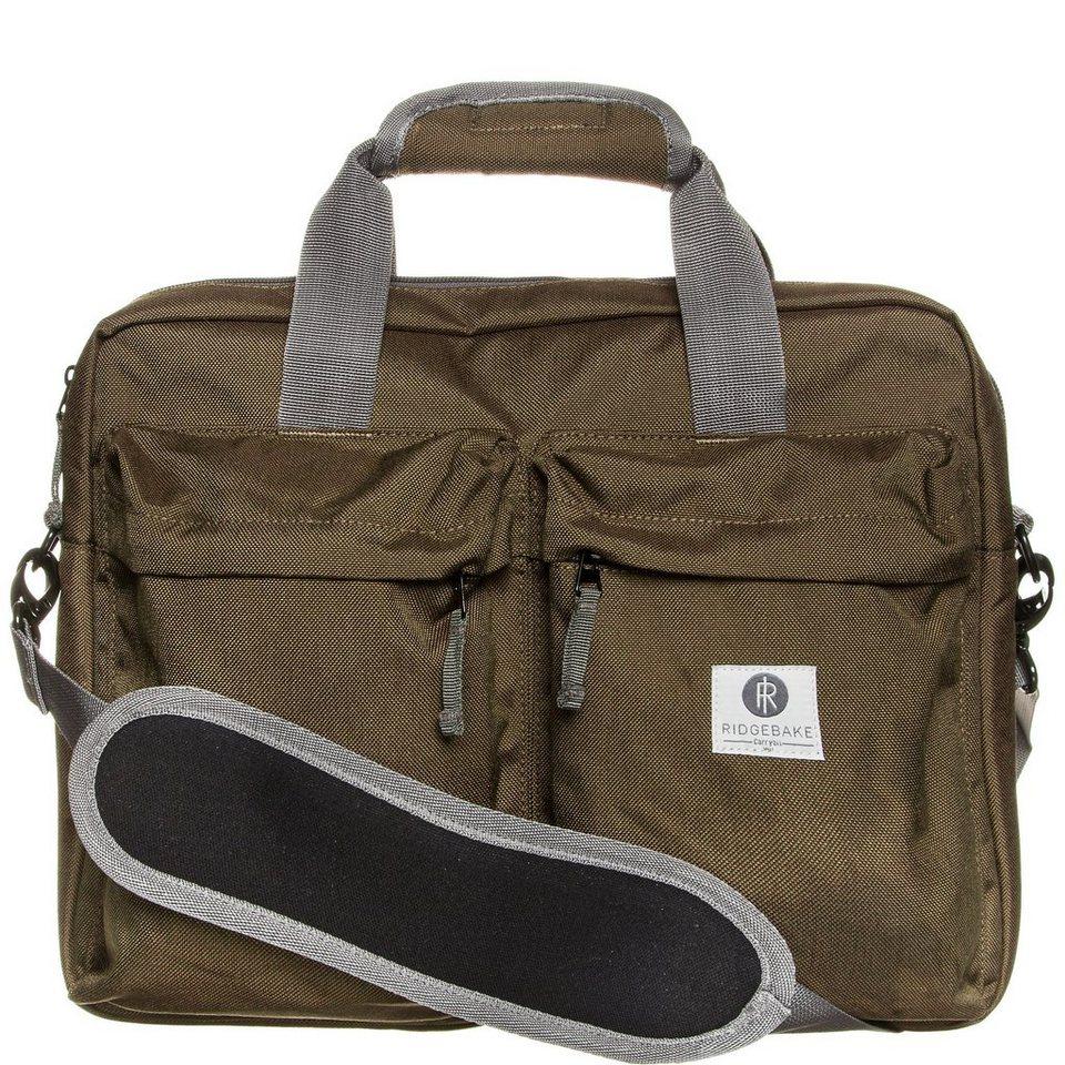 Ridgebake Laptop Brief Notebook Tasche in braun / grau