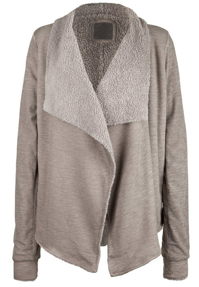 Better Rich Sweatcardigan »JACKET SHERPA« in taupe