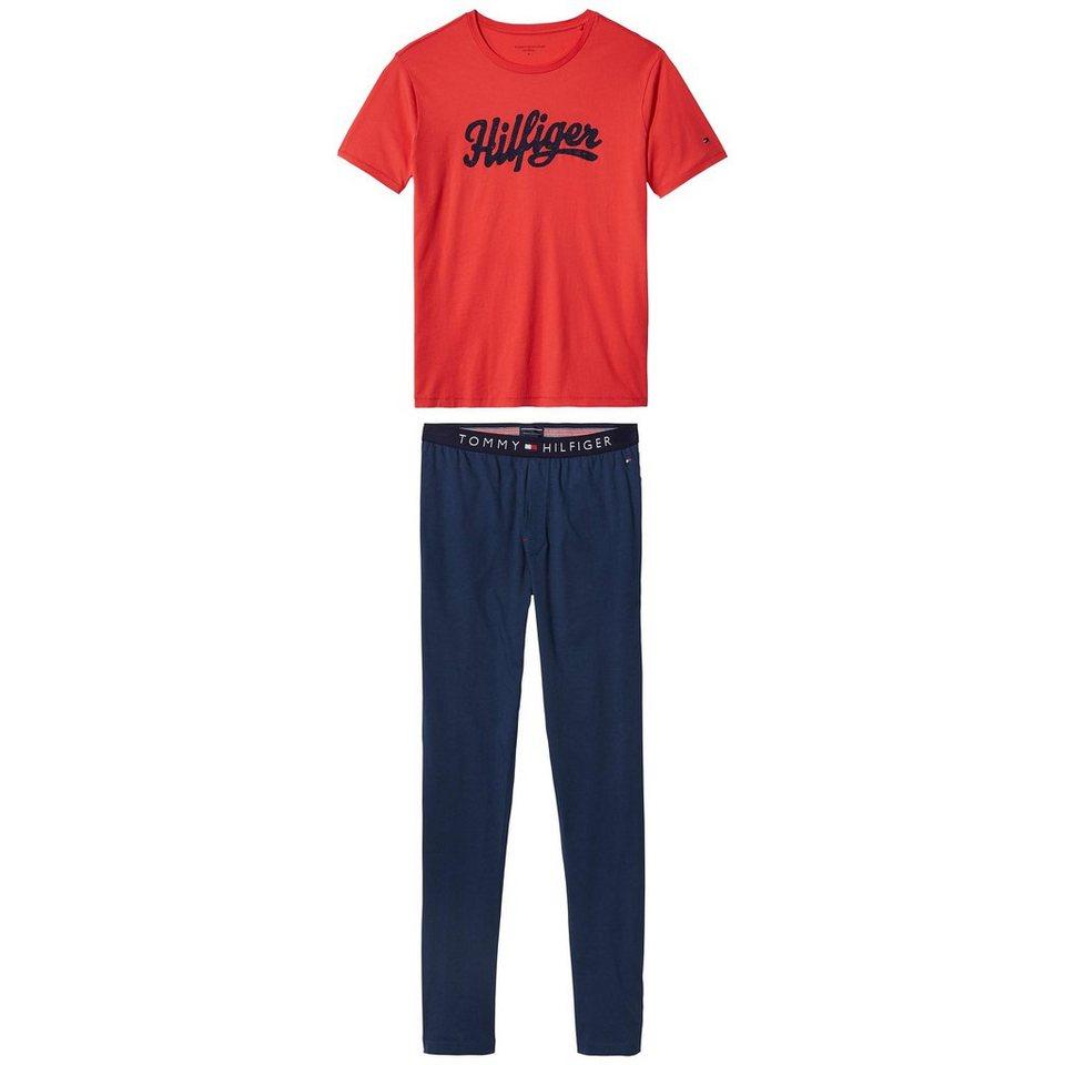 Tommy Hilfiger Pyjamas »Conan print jersey set ss« in BITTERSWEET/NAVY