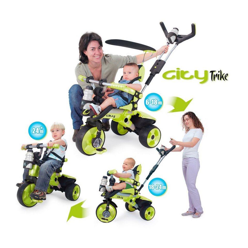 INJUSA Kinderwagen/Dreirad City in grün