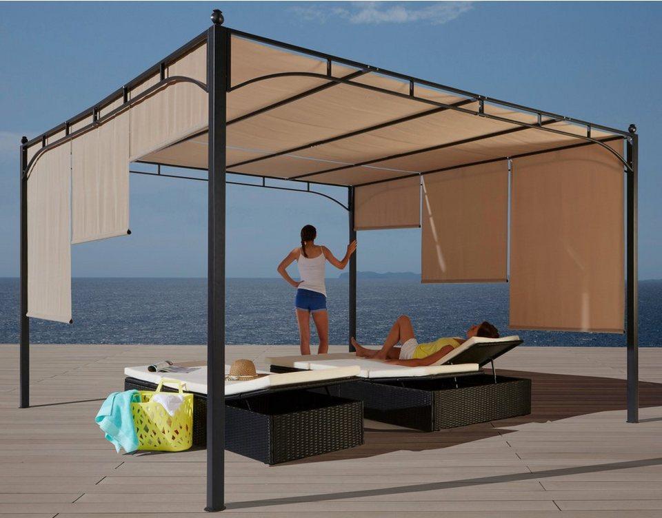 konifera pavillon paros flachdachpergola 3 5 x 3 5 m online kaufen otto