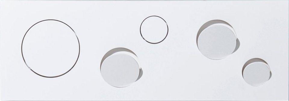 emform® Wandgarderobe »KNOPFLER« aus hochwertigem Birken-Schichtholz in weiß