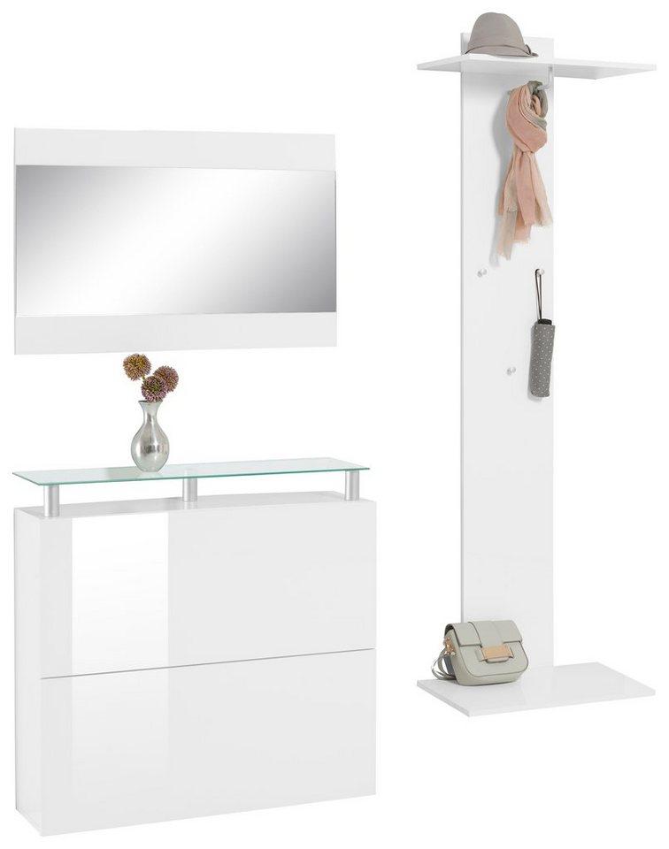 Garderoben set calava 3 tlg online kaufen otto for Garderobe 3 tlg