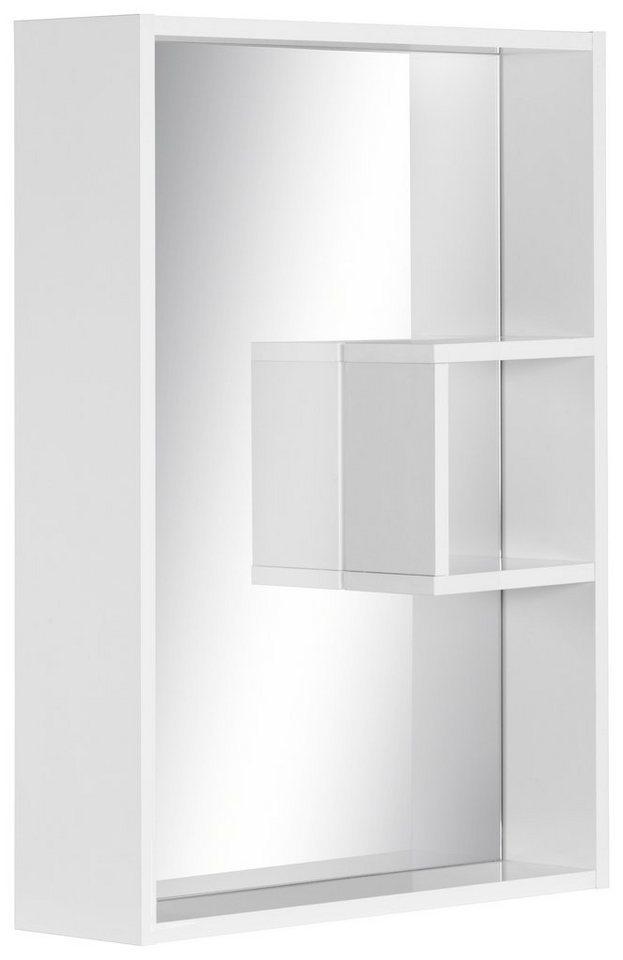 Schildmeyer Spiegelelement »Box«, mit Regal in weiß