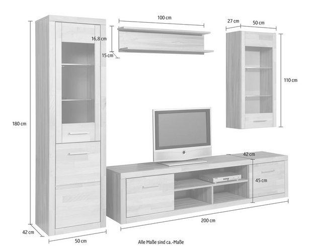 Wohnwände - Wohnwand, (Set, 4 tlg)  - Onlineshop OTTO
