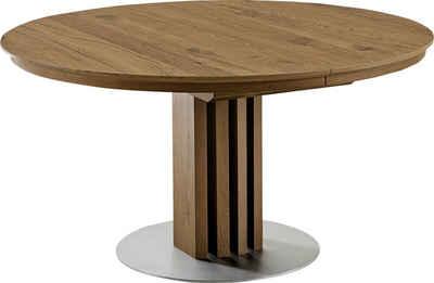 VENJAKOB Säulen Esstisch Mit Auszugsfunktion »picasa«, Runde Tischplatte,  In 2 Größen