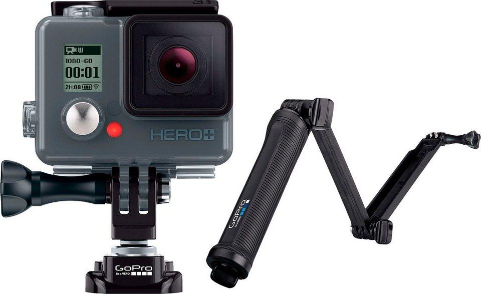 GoPro HERO+ LCD & 3-Way Stativ 1080p (Full HD) Actioncam, WLAN, Bluetooth